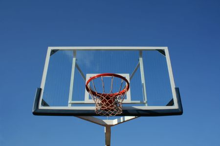 Basketball glass table, close and isolated on sky. Stock Photo - 3495321