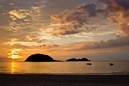 redang: Sunrise on the island of Redang, Malaysia