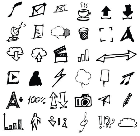 universal: Doodle Icons. Universal Set. Illustration