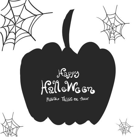 spider web: Halloween border design vector illustration