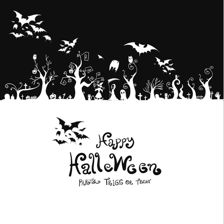 spider web: Halloween background design vector illustration Illustration