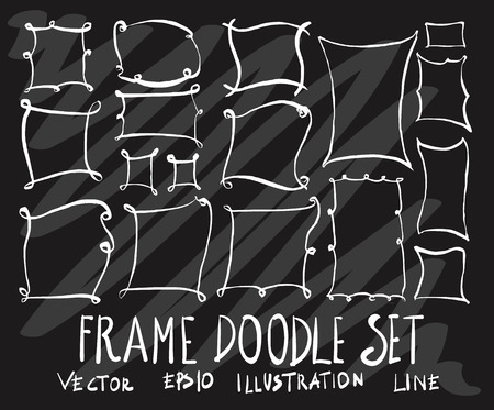 Set of doodle frame drawing Collection