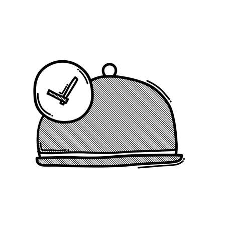 Fast cooking doodle vector icon. Drawing sketch illustration hand drawn line.