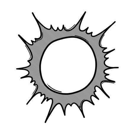 Sun doodle vector icon. Drawing sketch illustration hand drawn line.