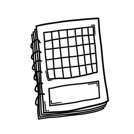 Calendar Doodle vector icon. Drawing sketch illustration hand drawn cartoon line.
