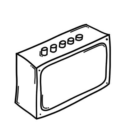 Speaker Doodle vector icon. Drawing sketch illustration hand drawn cartoon line.