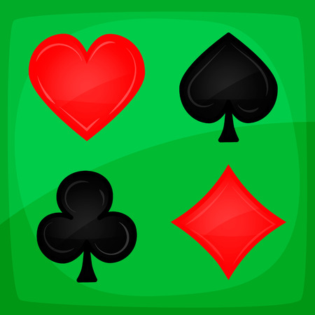 green carpet: Casino Poker Icons On Green Carpet Illustration of casino and poker icons, with spades, on green carpet background