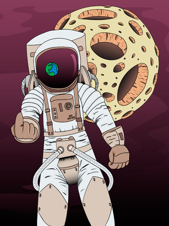 skyrocket: Illustration on theme of colonization of planets