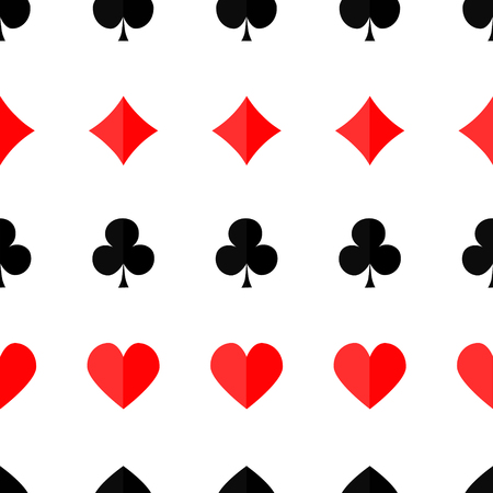 clubs diamonds: Seamless poker background with suits hearts diamonds clubs spades Vector illustration.