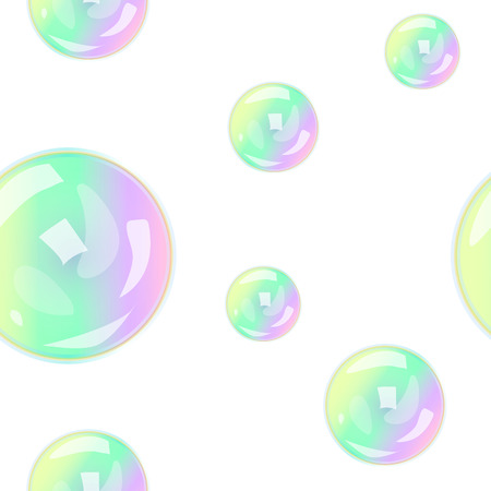 limpid: seamless pattern with soap bubbles illustration