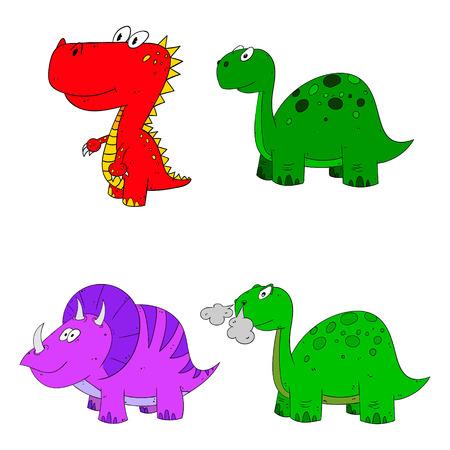 pettifogs: dino set icon 4 vector variations cartoon dinosaur