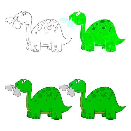 petrifying: dino set icon 4 vector variations dinosaur