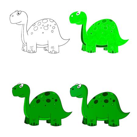 carboniferous: dino set icon 4 vector variations dinosaur