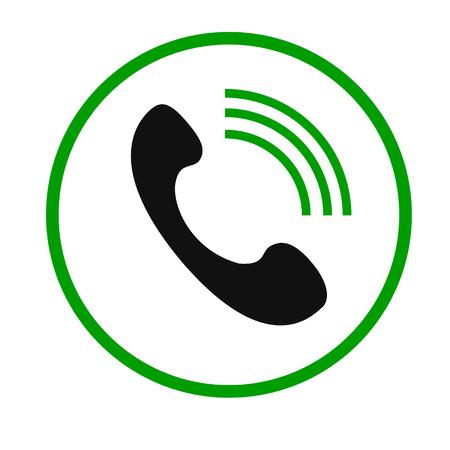전화 통화 벡터 아이콘입니다. 스타일 플랫 둥근 기호, 회색, 둥근 각도, 흰색 배경입니다.