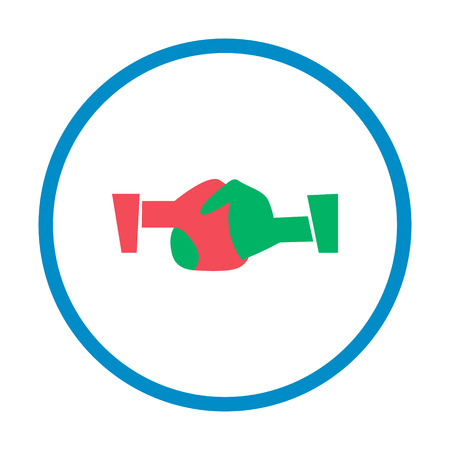 handshake flat style icon color vector. simple sign