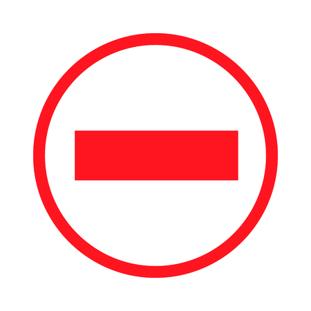 no entrance: prohibiting signs icon brick red icon isolated