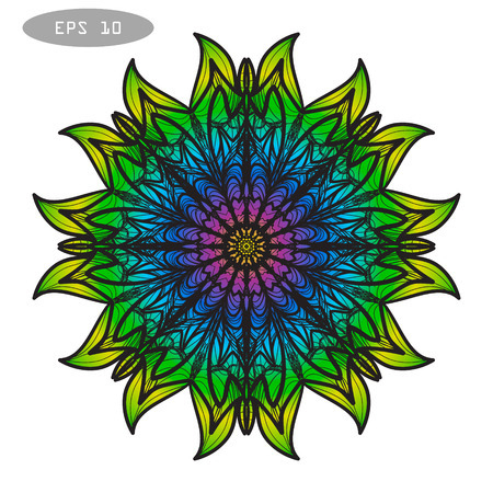 Mandala Coloring Illustration 3