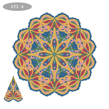 Mandala Coloring Illustration 5