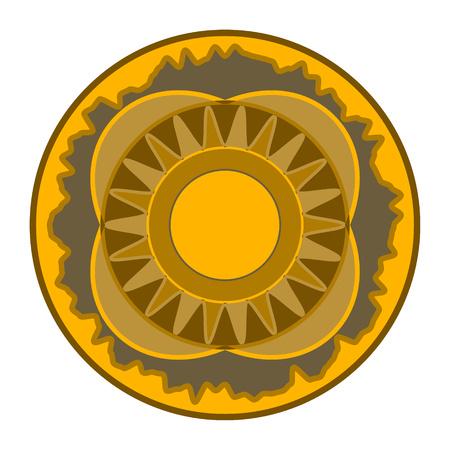 Mandala - circular vector pattern. Round Ornament. Beautiful circular pattern for your design in brown tones.