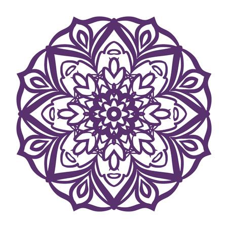 Mandala. Coloring page. Vintage decorative elements. Oriental pattern, vector illustration.c Illustration