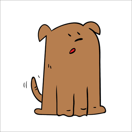 A cartoon dog looking shocked surprised