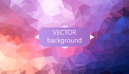 Polygonal vector background. Can be used in cover design, book design, website background. Vector illustration. Illustration