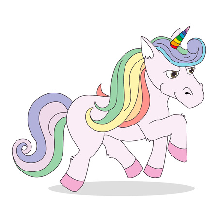 A funny unicorn character vector illustration.