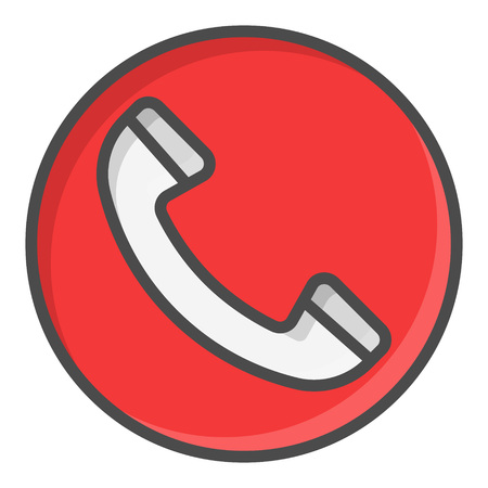Phone Red Call Symbol Icon