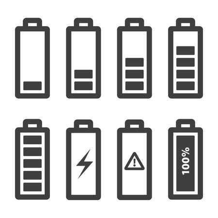 Battery icons set. Battery Indicator Icons,isolated on white background,vector illustration