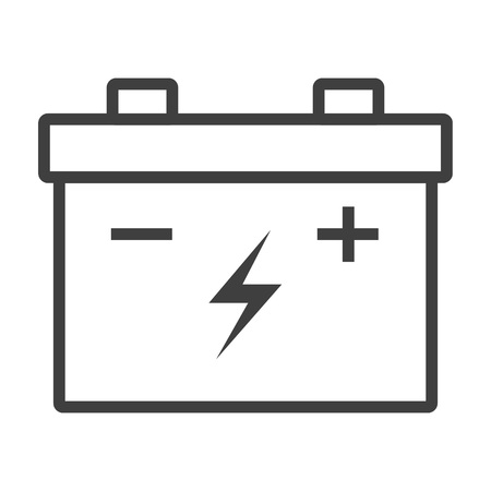 Outline car battery icon illustration vector symbol