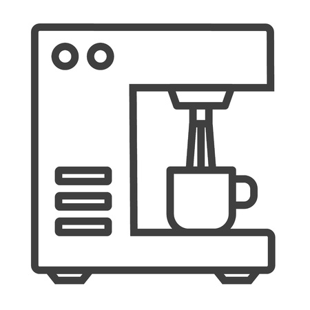 Bar coffee machine icon. Outline bar coffee machine vector icon for web design isolated on white background