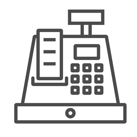 Cashier Icon. Line vector. Isolate on white background. EPS8