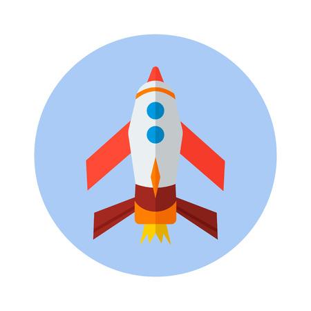 rocket, flat vector icon. Technology icon Vector illustration Ilustração