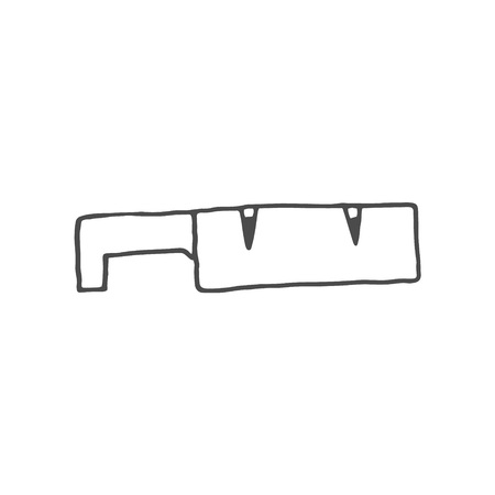 Knife sharpener doodle. Vector knife sharpener doodle on white background from thin line Kitchen collection, vector illustration. EPS 8