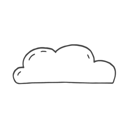 cloud sketch. cloud doodle. vector illustration on white background
