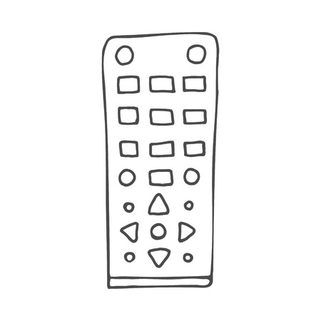 Remote control doodle. Vector illustration isolated on white background. EPS 8