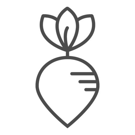 Beet icon vector. Outline beetroot, line beet symbol. Trendy flat ui sign design. Thin linear graphic pictogram for web site, mobile application.
