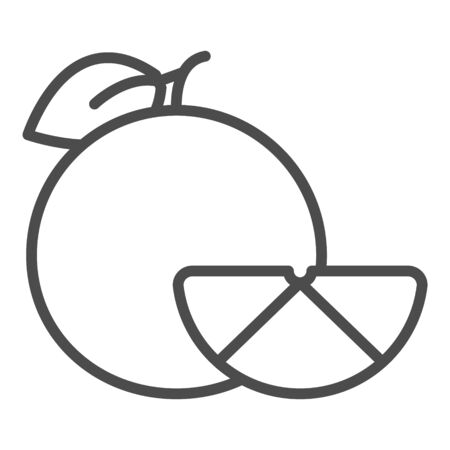 outline orange vector icon. isolated black simple line element illustration from fruits concept.