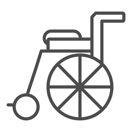 Wheelchair line icon for web, mobile and infographics.
