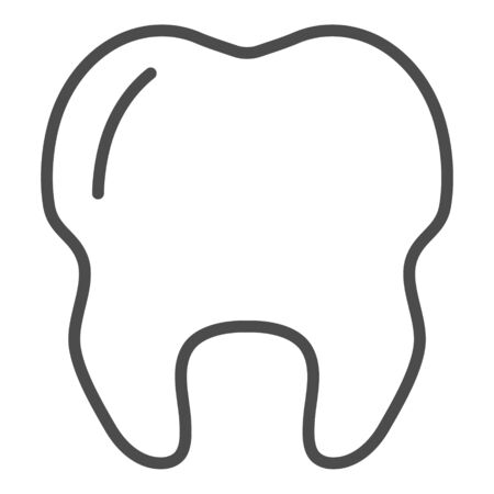 Outline tooth icon vector illustration, health icon