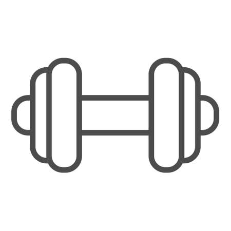 Dumbbell line icon with editable stroke. EPS 10