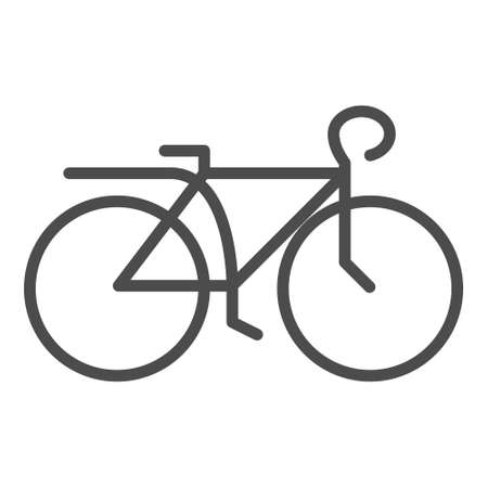 icon or label bike. Line style logotype template. Easy to use business template. Vector abstract logo or emblem.