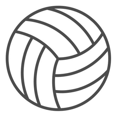 volleyball outline icon. Simple linear element illustration. Isolated line volleyball icon on white background.