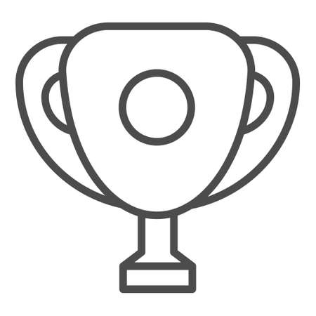 Champion Cup Outline Vector Icon editable stroke.