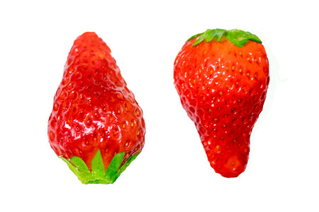 Red berry strawberry isolated on a white background,Food Frame Background Stock Photo