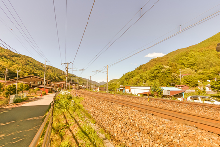 Railway at Narai  is a  small town in Nagano Prefecture Japan ,The old  town provided a pleasant walk through about a kilometre of well preserved buildings.