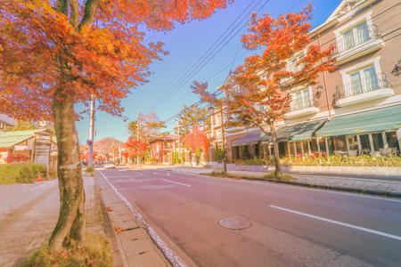 Karuizawa in Autumn ,Karuizawa is a mountain resort town and a shopping street  of Nagano Prefecture, Japan. Stock fotó