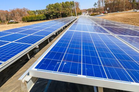 Solar power panels ,Photovoltaic modules for innovation green energy for life