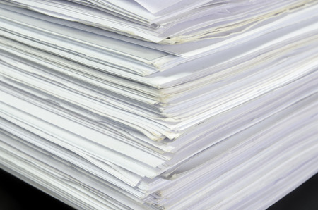 Close Up Edge Of Stapel Papers