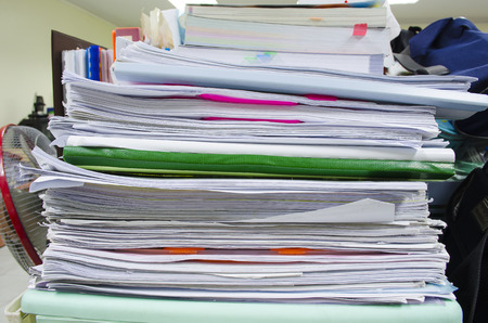 stack of papers: Close Up Edge Of Stack Papers
